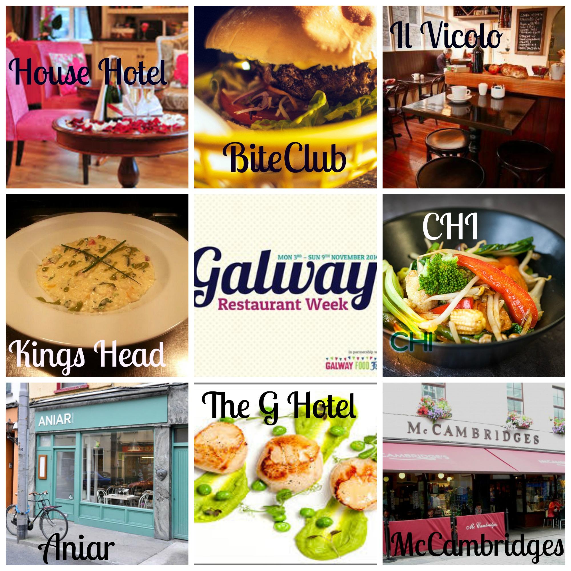 Restaurants Taking Part In Galway Restaurant Week 2014